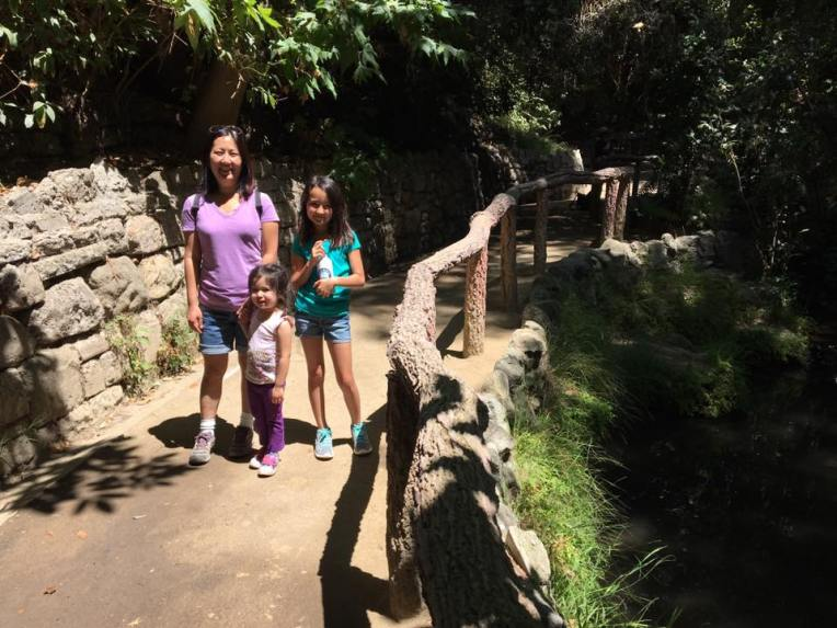 This is a perfect hidden gem near Griffith Park. The trail is easy and shaded and parts of it boarder a stream filled with crawfish, guppies, turtles and other cool creatures. There is even a small playground and cafe.